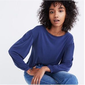 Madewell Sandwashed Gathered long Sleeve Top